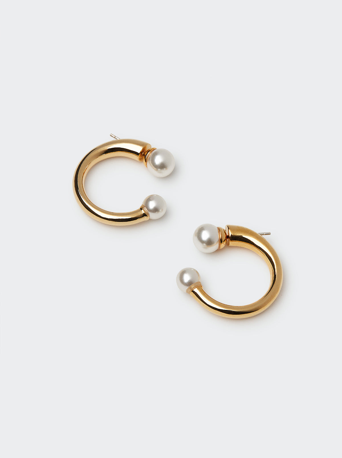 Pearl Back Small Hoop Earrings