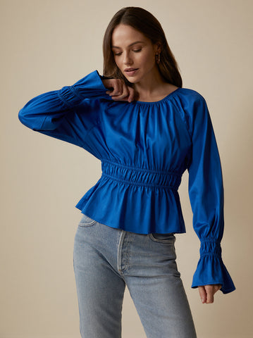 Quinn Blue Top by KITRI Studio