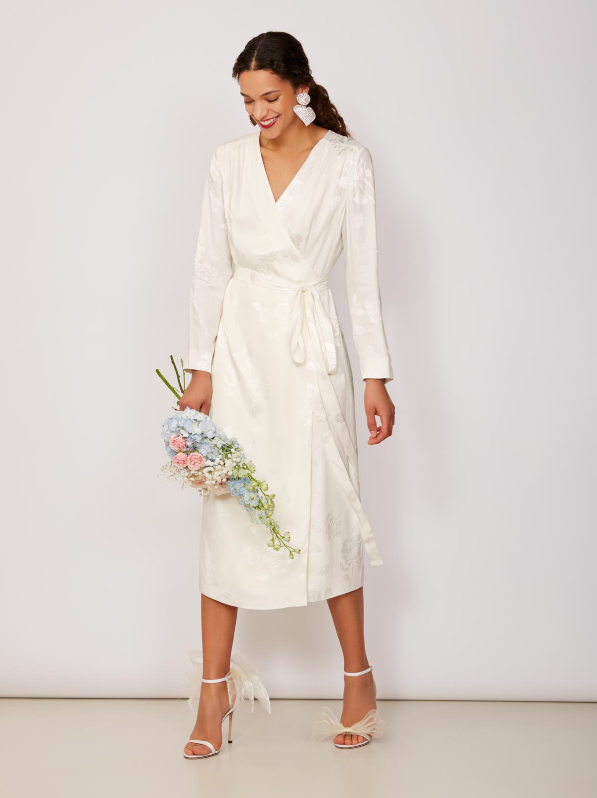 Riley Rose Jacquard Wrap Dress by KITRI Studio