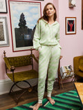 Robyn Mint Animal Alpaca Blend Knit Joggers