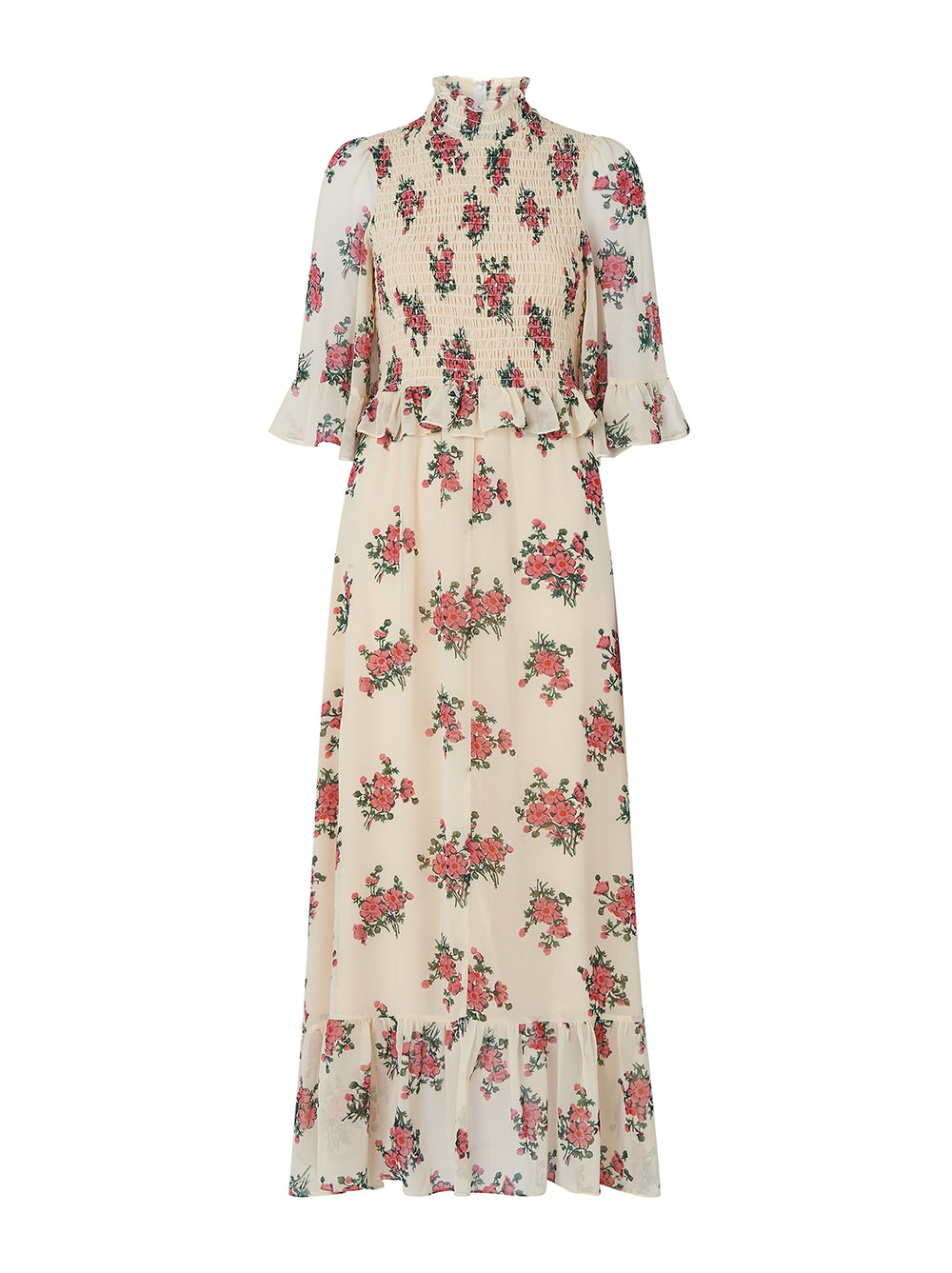 Rochelle Vintage Floral Print Maxi Dress by KITRI Studio