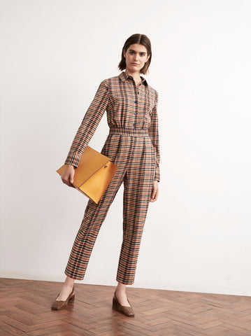Roland Checked Tailored Jumpsuit by KITRI Studio