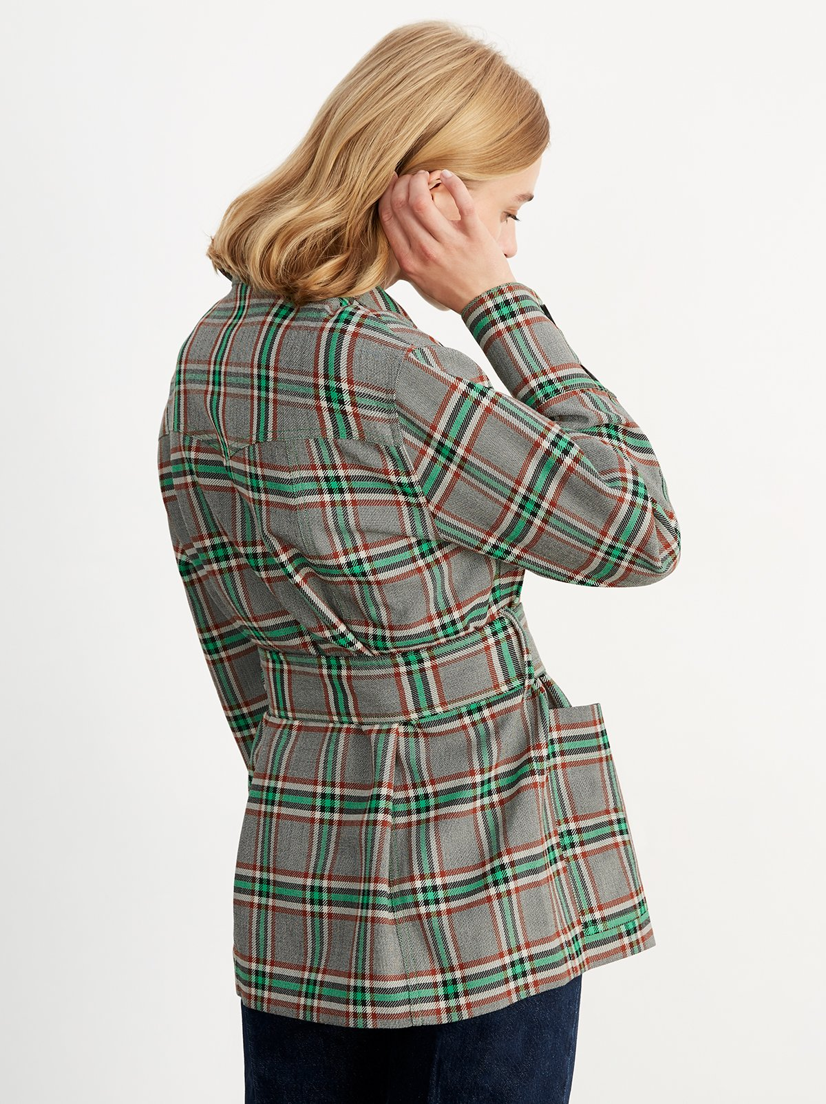 Stella Check Utility Jacket by KITRI Studio