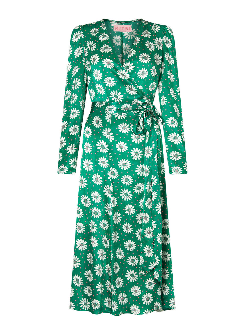 Stephanie Daisy Print Wrap Dress by KITRI Studio