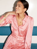 Tara Pink Polka Dot Shirt Dress