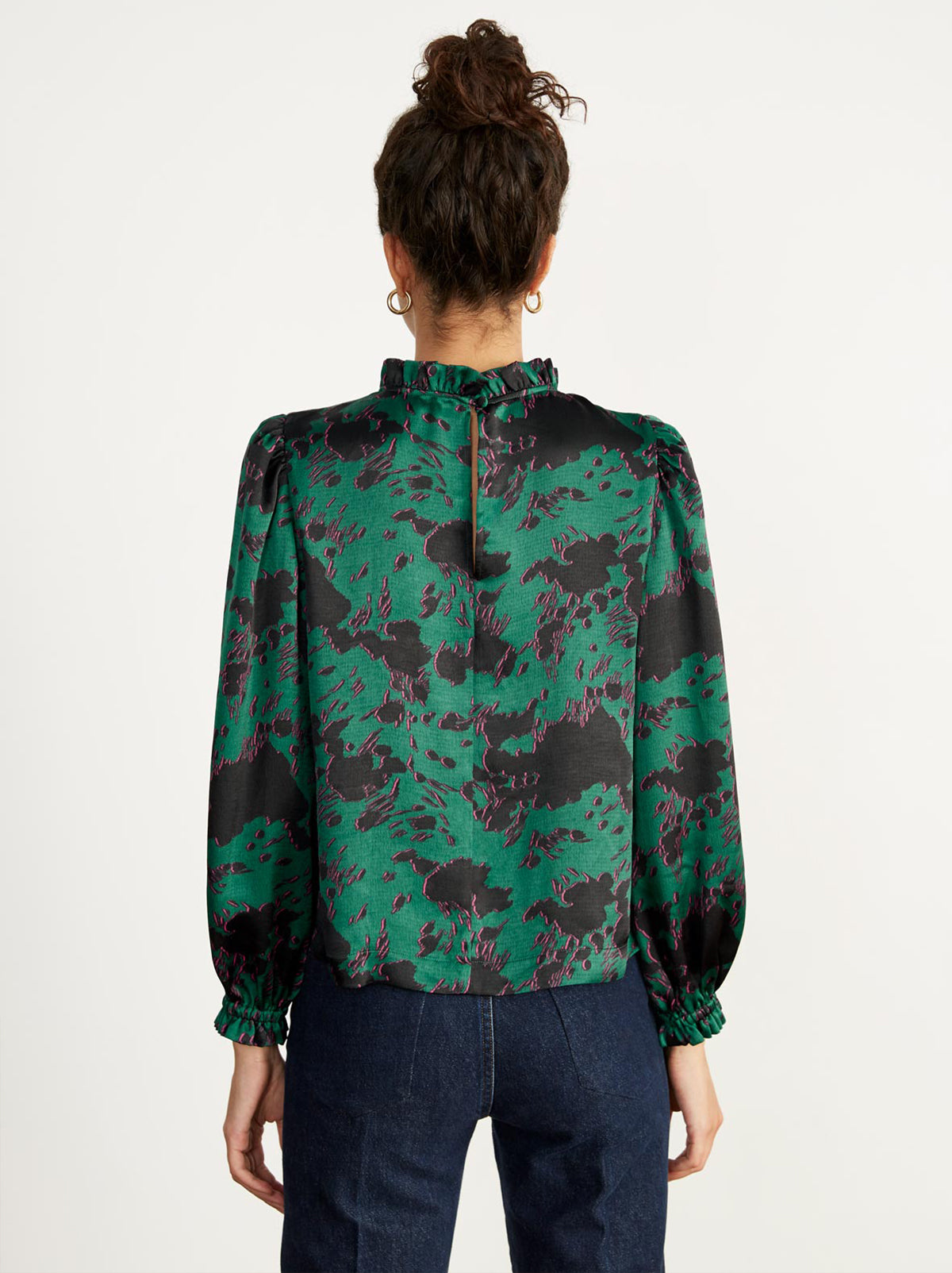 Teresa Green Cow Print Top