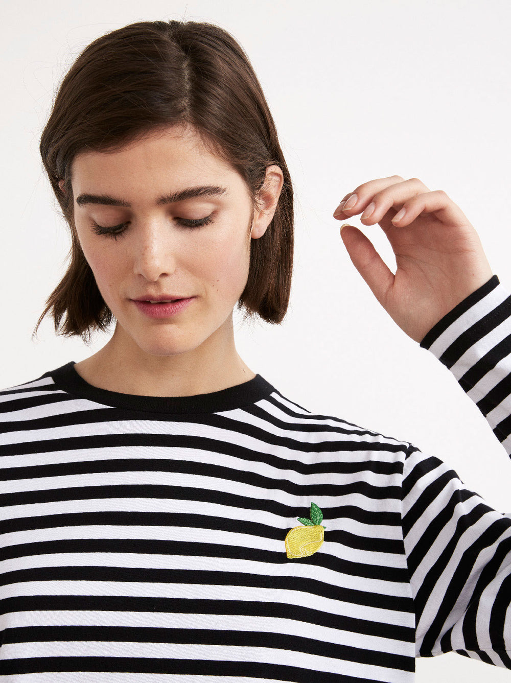 Tutta Frutta Striped Cotton Long Sleeve T-shirt by KITRI Studio