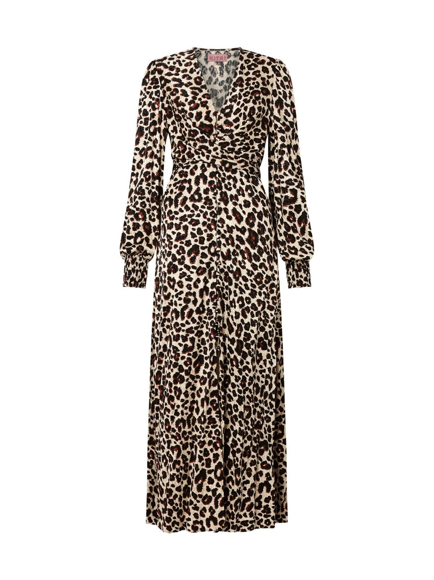 Aurora Leopard Print Maxi Dress by KITRI Studio