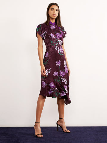 Valerie Purple Vintage Asymmetric Dress by KITRI Studio