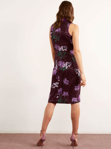 Vedette Purple Vintage Mandarin Dress by KITRI Studio