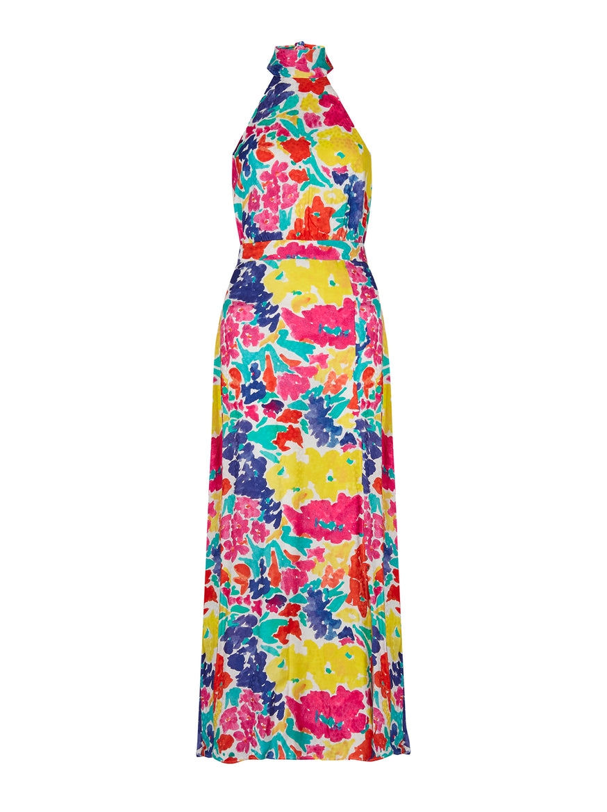 Vera Printed Jacquard Maxi Dress by KITRI Studio