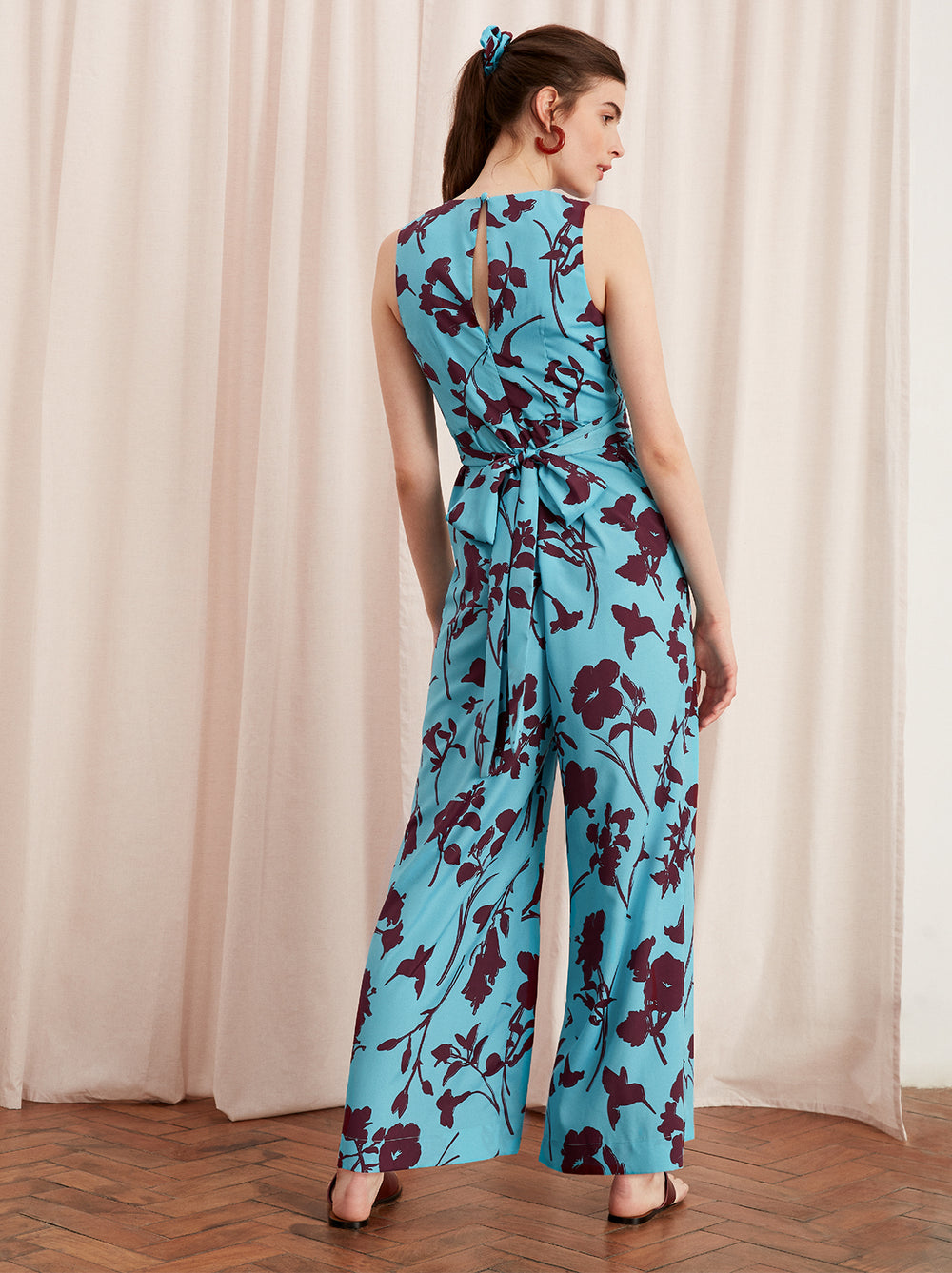 Wayne Printed Wrap Jumpsuit by KITRI Studio