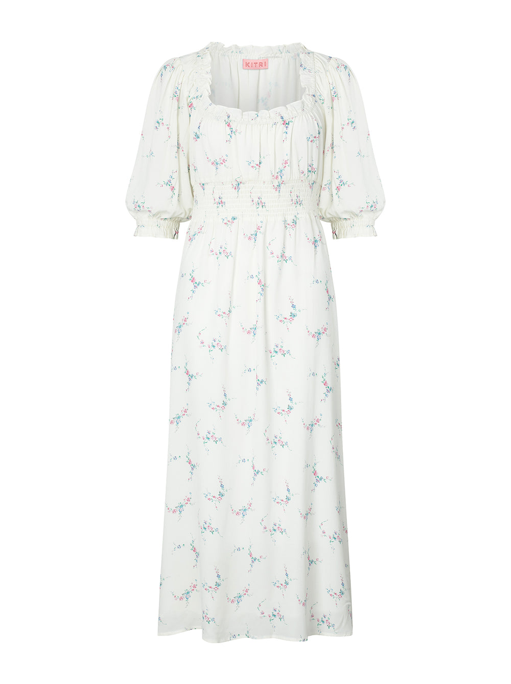 Manon Rose Print Midi Dress