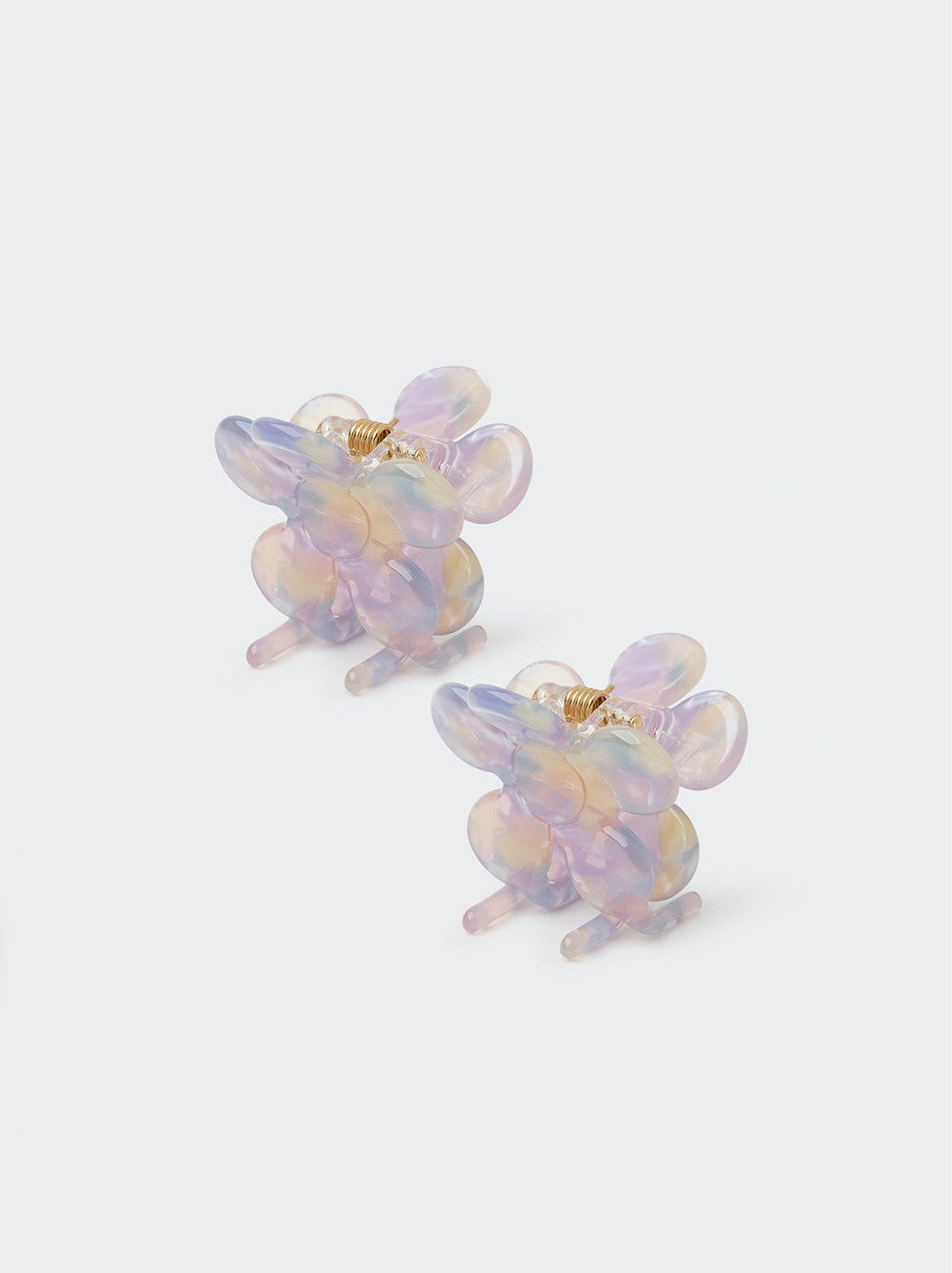 Pastel Butterfly Hair Clips