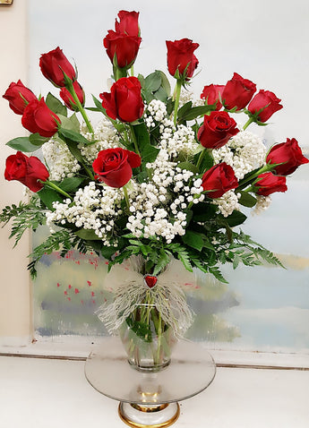 2 Dozen Luxury Red Roses Bouquet