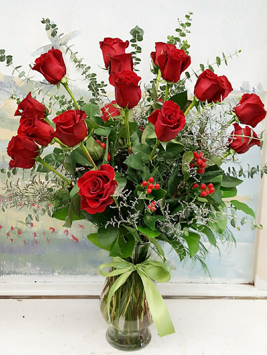 Dozen Red Roses Luxury Bouquet
