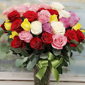 3 Dozen Colorful Luxury  Roses