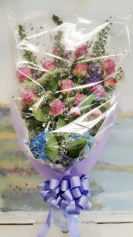 Color Your Day Tranquility Luxury Wrap Bouquet