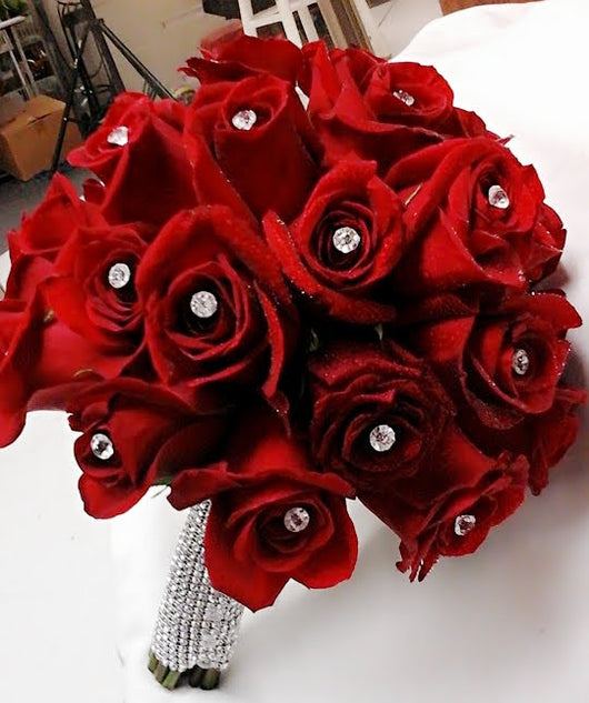 Wedding Bridal  Bouquet - Red