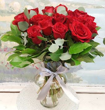 Dozen Red  Rose Luxury  Bouquet