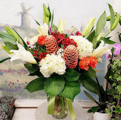 Spring Tropicals  Luxury Vase Arrangement