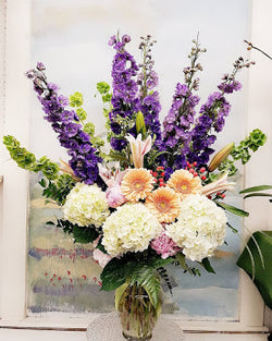 Love In Purple Luxury Vase Arrangement
