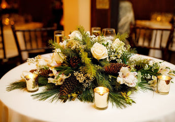 Wedding Party Event Centerpiece Arrangement ( Sweetheart Table)