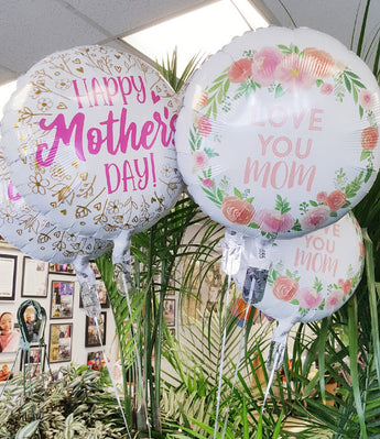 2021 Happy  Mother's Day  Mylar  Balloons ( Each )