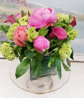 2018 Mother's Day Peony Cube Arrangement