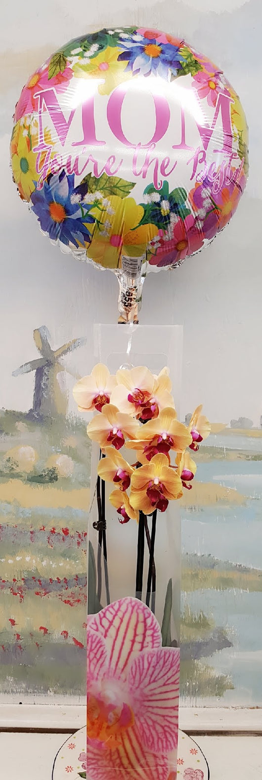 2019 Mother's Day Luxury 2 Stem Orchid & Balloon