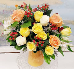 Rose Garden Pot Arrangement