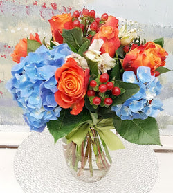 Best Love Orange  Vase  Arrangement