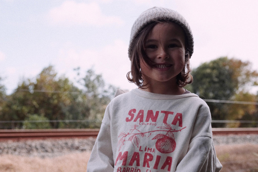 The animals Observatory, Sunna Studios Wool Beanie, Kids Clothing. Green, organic, natural