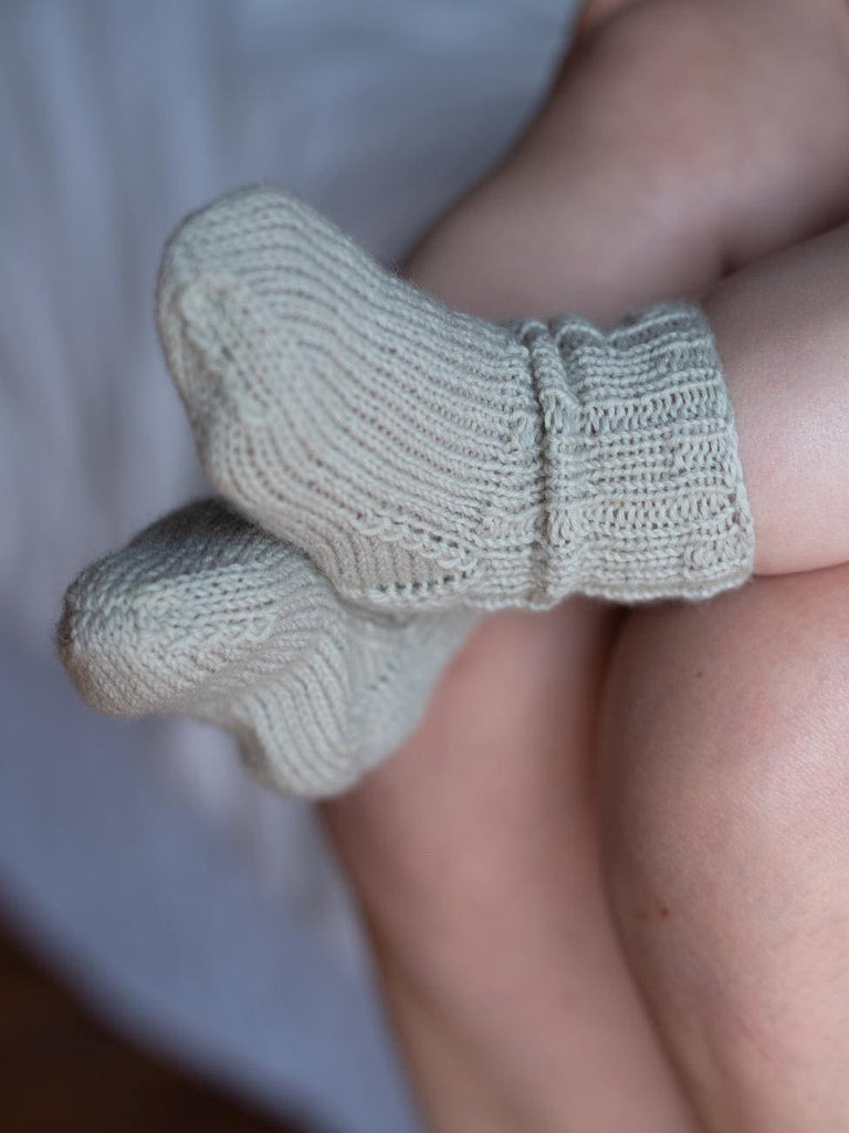 Super wash merino socks for babies. Baby socks, sustainable, natural, NZ made. Sunna Studios