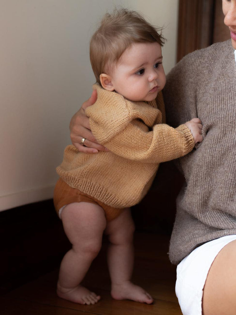 Hand knits for babies, wool, merino, organic, sustainable, made in NZ. Sunna Studios