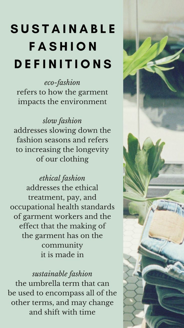 sustainable fashion definitions, slow fashion, eco fashion, ethical fashion