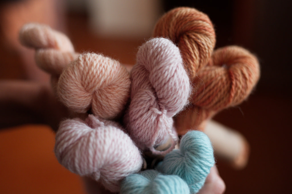 naturally dyed tseba yarns