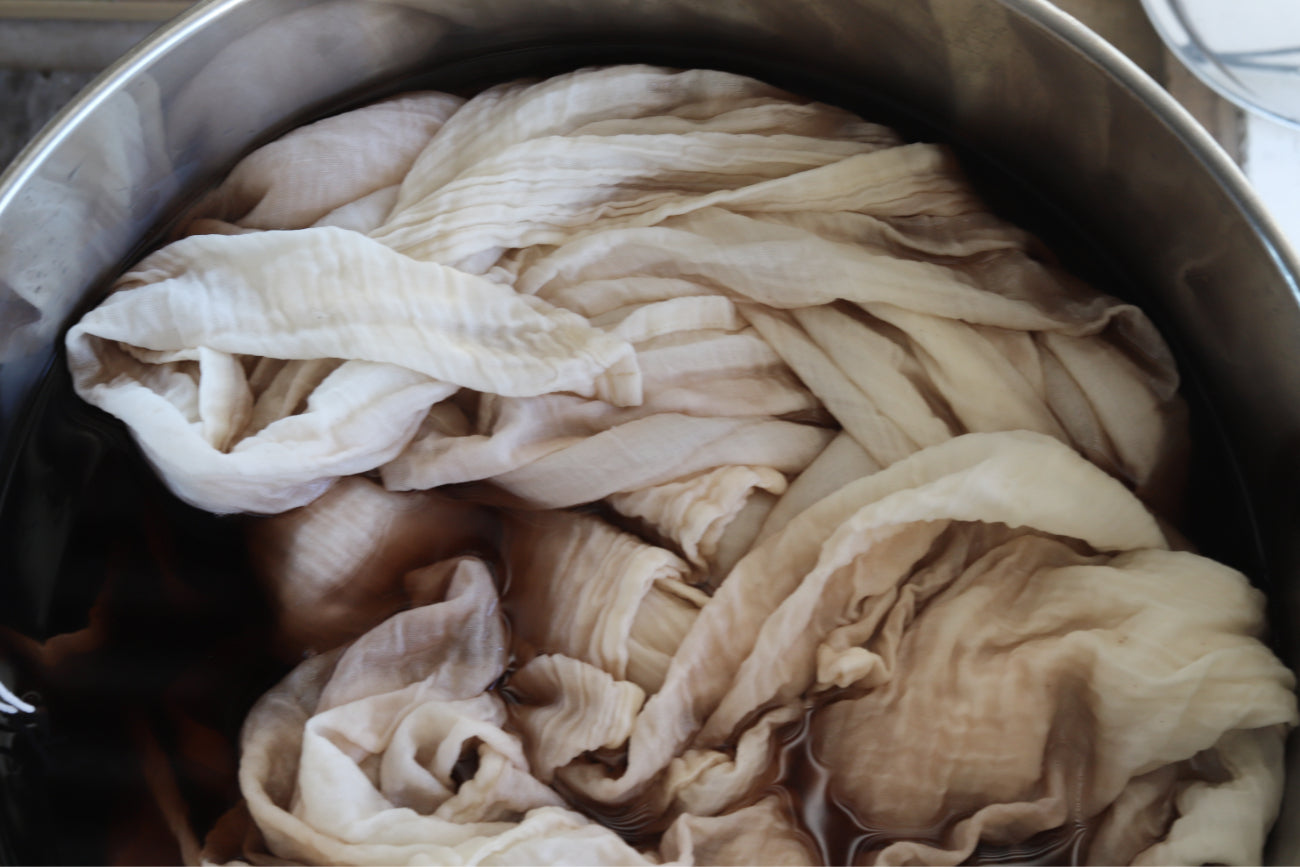 naturally dyed baby clothing | naturally dyed textiles | dye pot | natural dyes