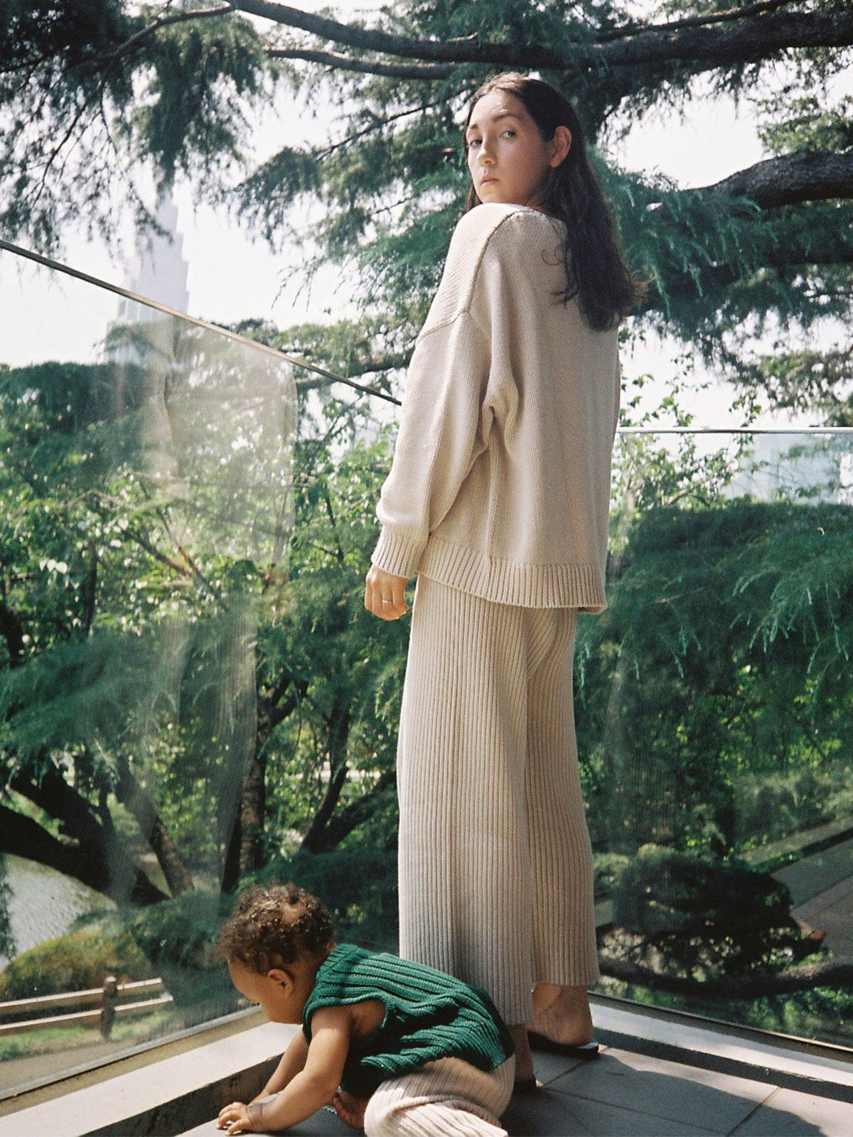 Knitwear for mother and child, organic cotton, ethical, sustainable. New Zealand