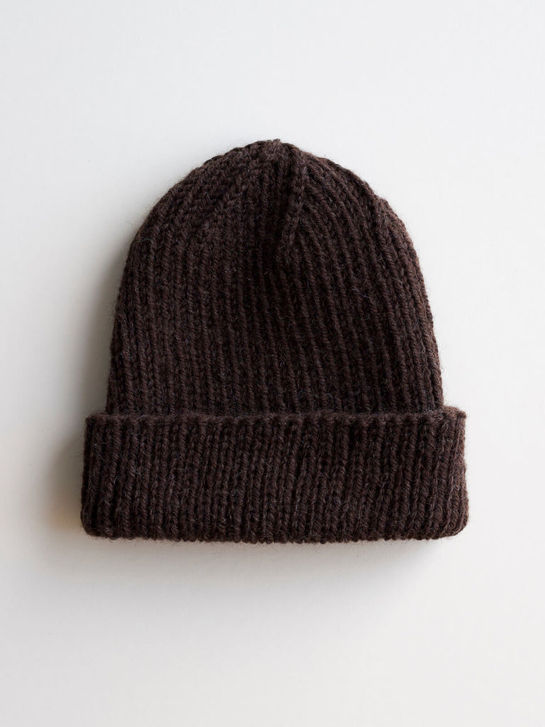 The Wool Beanie in Cacao
