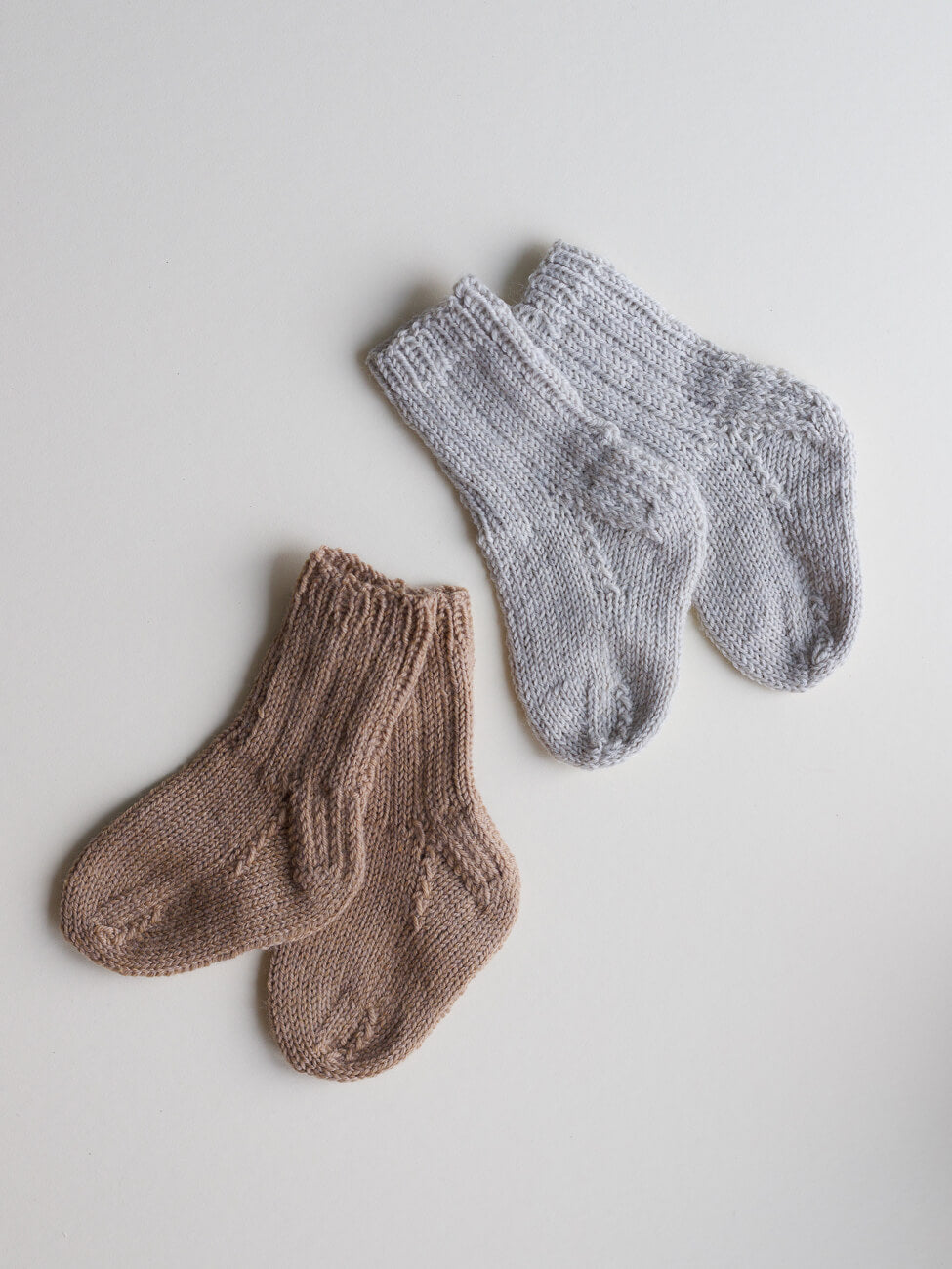 Hand Knitted Socks - Camel