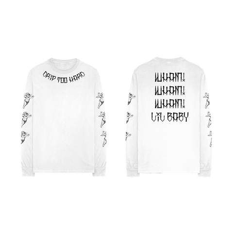 Drip Too Hard Cherub White Longsleeve + Digital Album