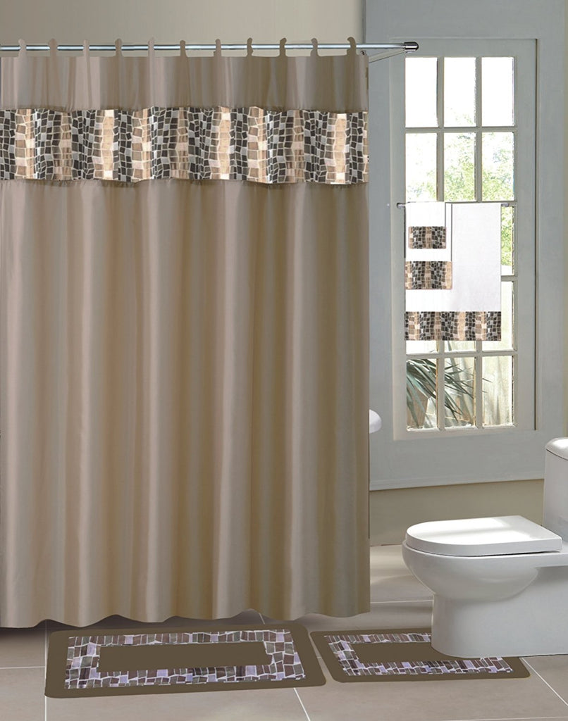l cotton bay x curtain ideas curtains luxury p biltmore home in dobby taup glacier shower taupe fabric creative