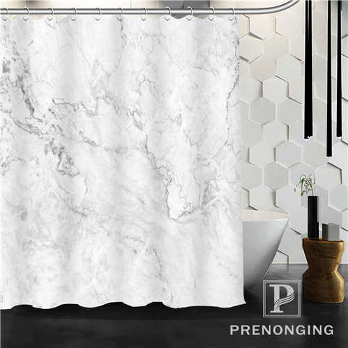 Custom Shower Curtain White Marble Texture Home Decoration Bathing Curtains Cloth Waterproof Polyester S 171212