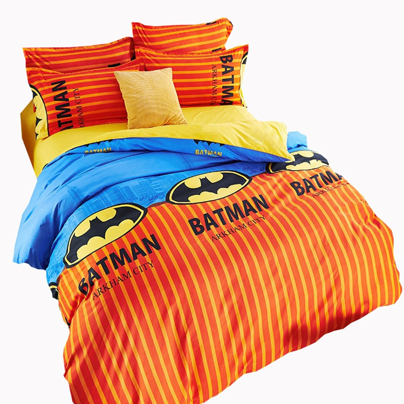 3f656a3fed73 Kids Bedding Set Boys Batman Duvet Cover Set Not Ball Not Fade bed Set Quilt  Bedclothes