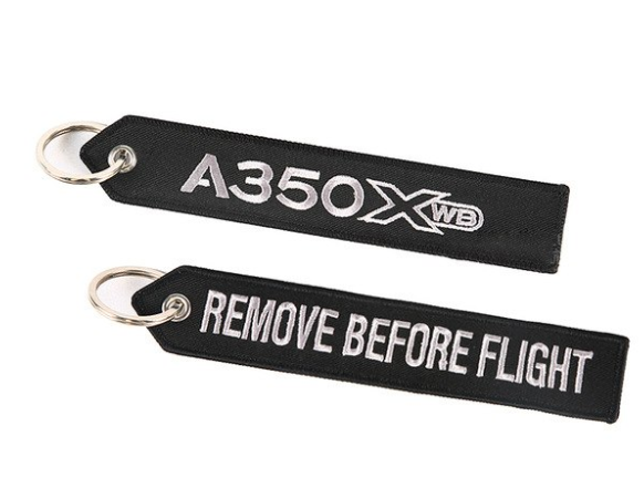 Airbus Logo Embroidery Keychains - Enjoy Aviation - AVIATION gifts -keychains-free ebook how to become a pilot