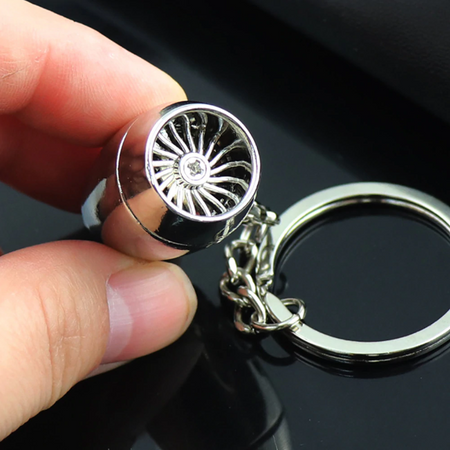 Trending High Quality Airplane Turbine Engine Keychain