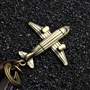 Vintage Aircraft model leather KeyChain!