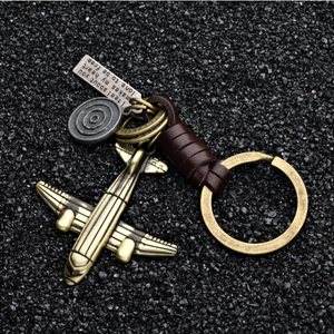Vintage Aircraft model leather Key Chain!