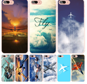 Aircraft fly cell phone Cover case for iphone 4 4s 5 5s SE 5c 6 6s 7 8 X plus